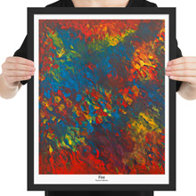 Fire framed print from Todd Peterson's Passion Collection